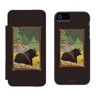 Black Bear in Forest - Montana Incipio Watson™ iPhone 5 Wallet Case