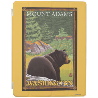 Black Bear in Forest - Mount Adams, Washington iPad Cover