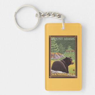 Black Bear in Forest - Mount Adams, Washington Key Ring