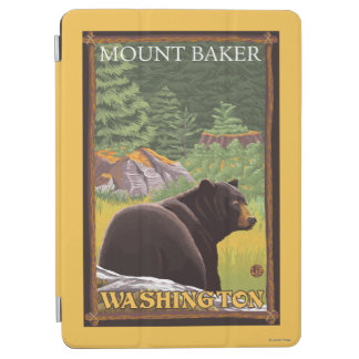 Black Bear in Forest - Mount Baker, Washington iPad Air Cover