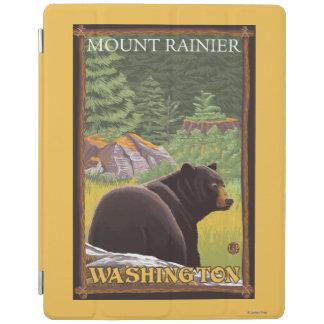 Black Bear in Forest - Mount Rainier, Washington iPad Cover