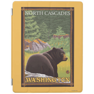 Black Bear in Forest - North Cascades, Washingto iPad Cover