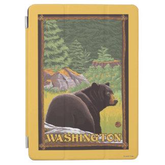 Black Bear in Forest - Washington iPad Air Cover