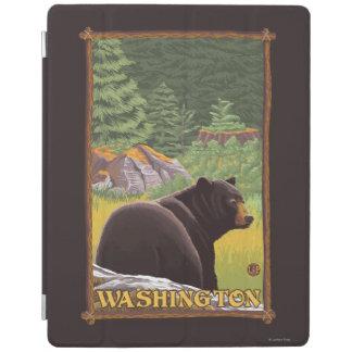 Black Bear in Forest - Washington iPad Cover