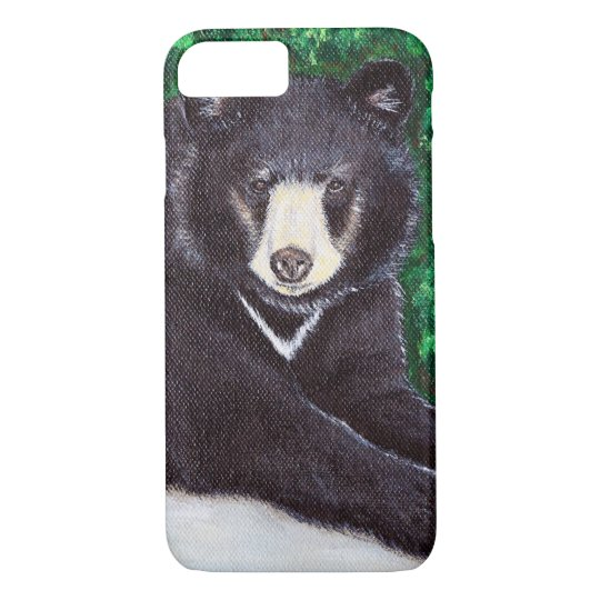 Black Bear Painting iPhone 8/7 Case