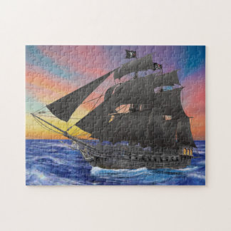 Black Beard's Pirate Ship Jigsaw Puzzle