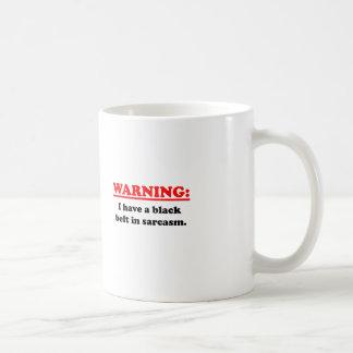 Black Belt In Sarcasm Basic White Mug