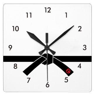 Black Belt, Martial Arts 黒帯, 武道 Square Wall Clock