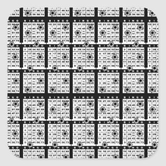 Black Bingo Cards Square Sticker