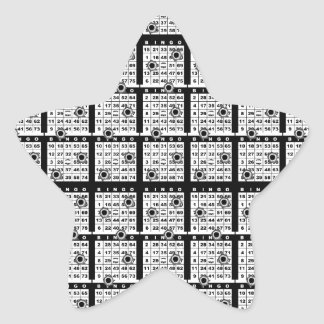 Black Bingo Cards Star Sticker