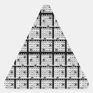 Black Bingo Cards Triangle Sticker