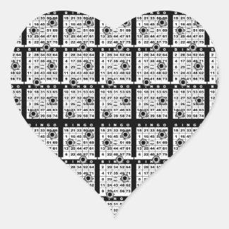 Black Bingo Cards Heart Sticker