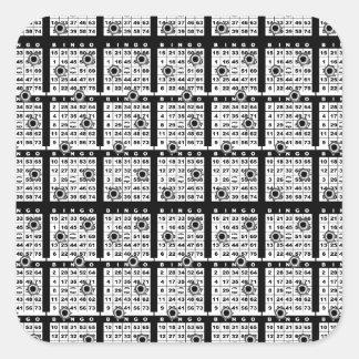 Black Bingo Cards Sticker