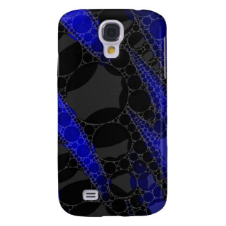 Black Blue Abstract Galaxy S4 Case