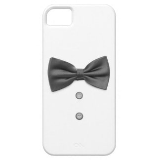 Black bow tie and buttons case for the iPhone 5