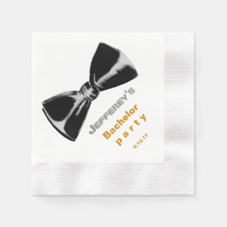 Black Bow tie event Disposable Napkin