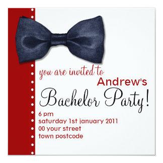 Black BowTie Bachelor Party Invitation