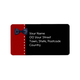 Black BowTie red Address Label