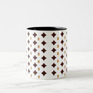 Black brown and orange 11oz mug