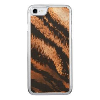 Black Brown Zebra Pattern Photo Print Carved iPhone 8/7 Case