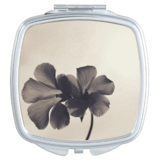 Black Buttercups Makeup Mirrors