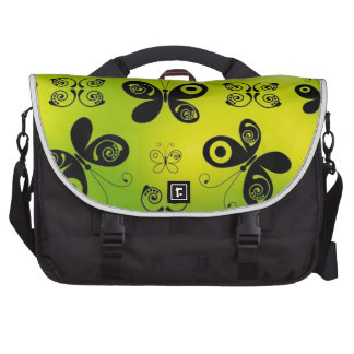 Black Butterfly Kisses Angel Graphic Design Commuter Bag