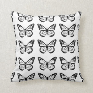 Black Butterfly Stencils on Cushion