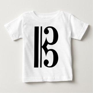 Black C Clef Baby T-Shirt