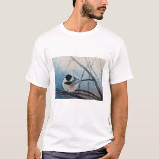Black Capped Chickadee Ladies Tshirt
