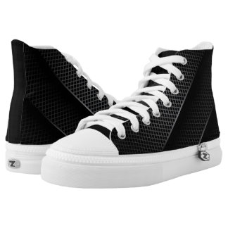 Black Carbon Mesh Printed Shoes