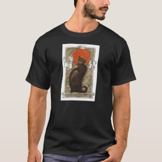 Black Cat - Art Nouveau - Theophile Steinlen T-Shirt