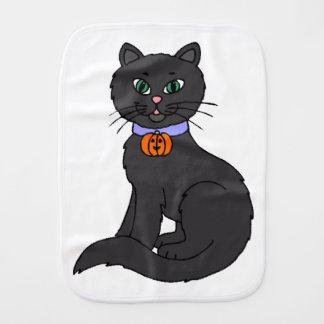 Black Cat Baby Burp Cloths
