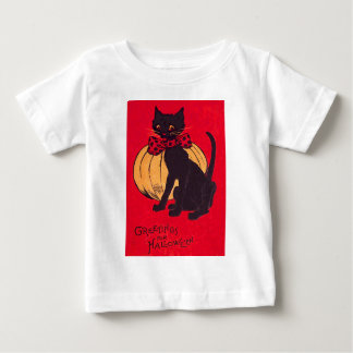 Black Cat Bowtie Pumpkin Vintage Tees