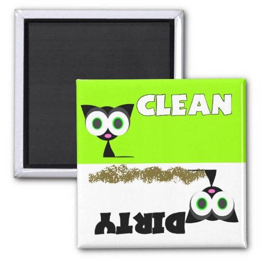 Black Cat Clean / Dirty Dishwasher Magnet