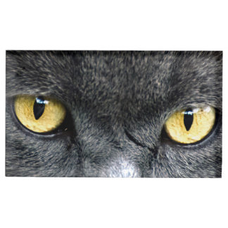 Black Cat Eyes Table Card Holder
