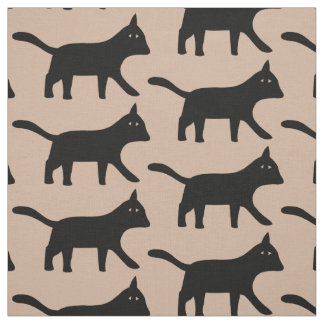 Black Cat Fabric