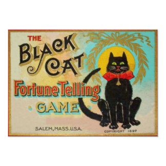 Black Cat Fortune Telling Game Card