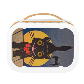 Black Cat Full Moon Bat Lunch Box