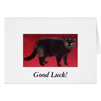 black cat Good Luck! Card