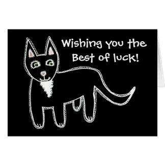 Black Cat Good Luck Greeting Card