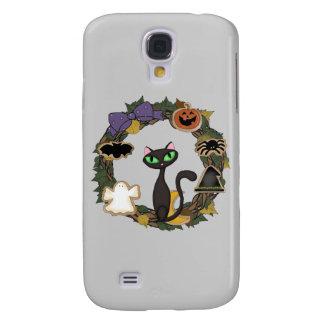 Black Cat Halloween Galaxy S4 Case