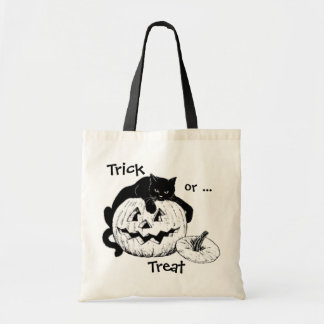 Black Cat & Jack O' Lantern Trick or Treat Bag