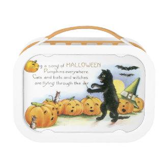 Black Cat Leading Jack O' Lantern Halloween Choir Lunch Boxes