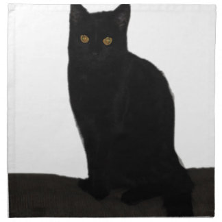 Black Cat Napkin