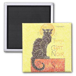 Black Cat Vintage Magnet