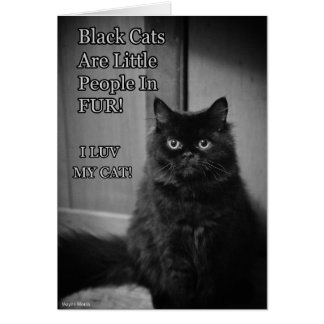 Black cats love card