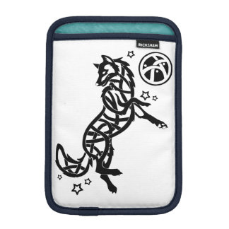 Black Celtic Tribal Wolf iPad Mini Sleeve