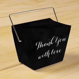 Black Chalkboadrd Thank You Love Wedding Party Favour Box