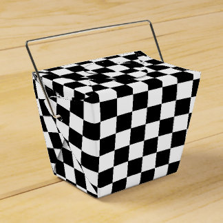 Black Checkered Favour Boxes