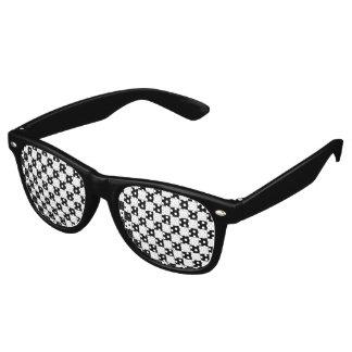 Black Chequerboard Pattern Retro Sunglasses